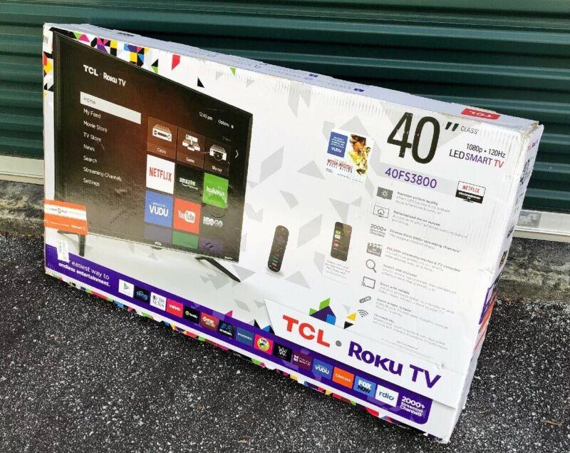 """TCL 40"""" Class (39.5"""" Diag.) LED 1080p Smart HDTV Roku TV Black 40FS3800"""