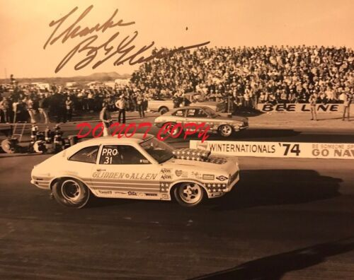 BOB GLIDDEN - NHRA AUTOGRAPHED PICTURE SIGNED 8X10 PHOTO RP