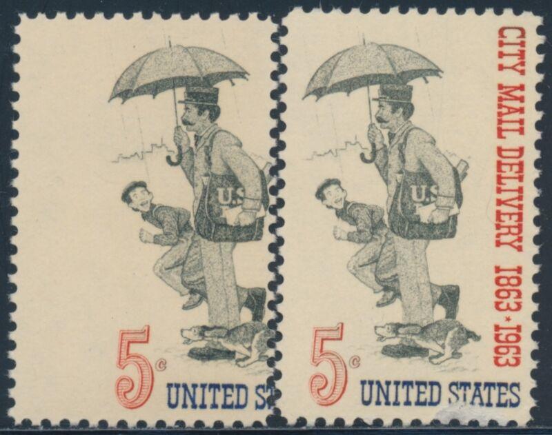 """#1238 Var. Missing """"city Mail Delivery 1863-1963"""" Error Bs7941"""