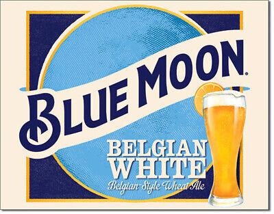 Blue Moon Belgian Wheat Tin Metal Sign 16 X 13in