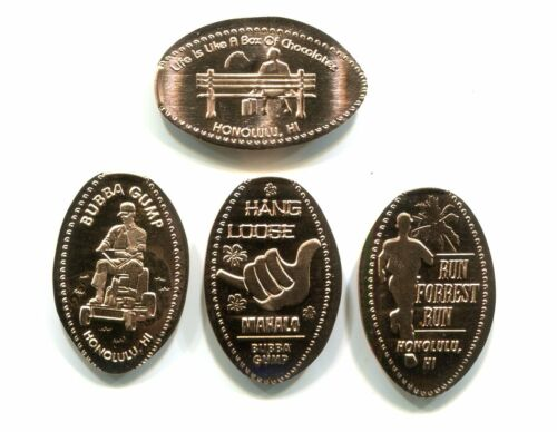 Hawaii Elongated Copper cents: Bubba Gump, Ala Moana Center, set of 4 RETIRED