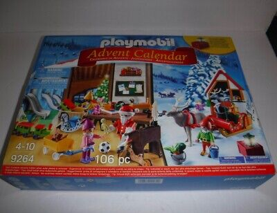 New Playmobil Christmas Advent Calendar #9264 Santa's Workshop Elves Lantern