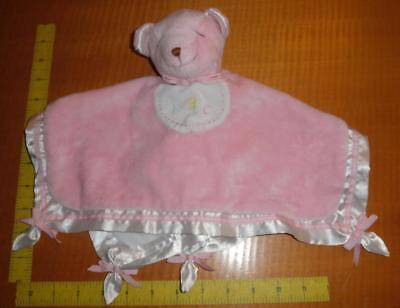 Douglas the Cuddle Toy Lil Snugglers Pink White Bear ABC Security Blanket Lovey (Douglas Lil Snugglers)