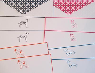 C Wonder Best In Show Dog Notecards Dachshund Dalmation Bulldog Stationery