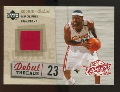 2005 Upper Deck Debut Threads LeBron James Jersey