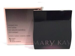 MARY KAY MINI MAGNETIC BLACK COMPACT~UNFILLED~FITS 6 EYE SHADOWS+BRUSH/SPONGE!