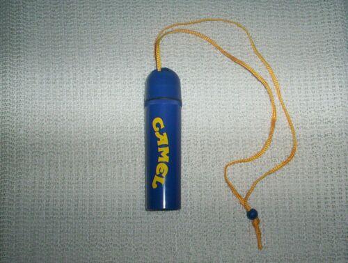Vintage Camel Cigarettes Butane Lighter Waterproof Case Neck Strap Adjustable