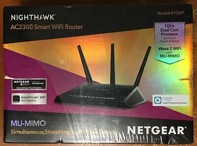 NETGEAR R7000P Nighthawk AC2300 Smart Wi-Fi - MU-MIMO Dual Band Gigabit Router