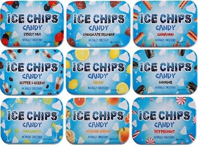 NEW! Custom 6-Pack Ice Chips Xylitol Candy Tins; Choose from 25 Flavors!  - Custom Tins