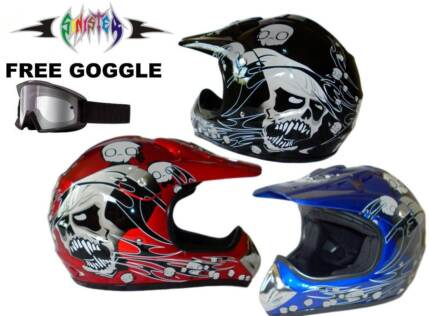 DIRT BIKE HELMET  ...NEW Free Goggle