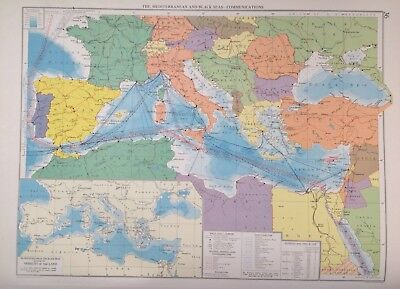 Mediterranean & Black Seas Communications 1952, Mercantile Marine Atlas, Philip