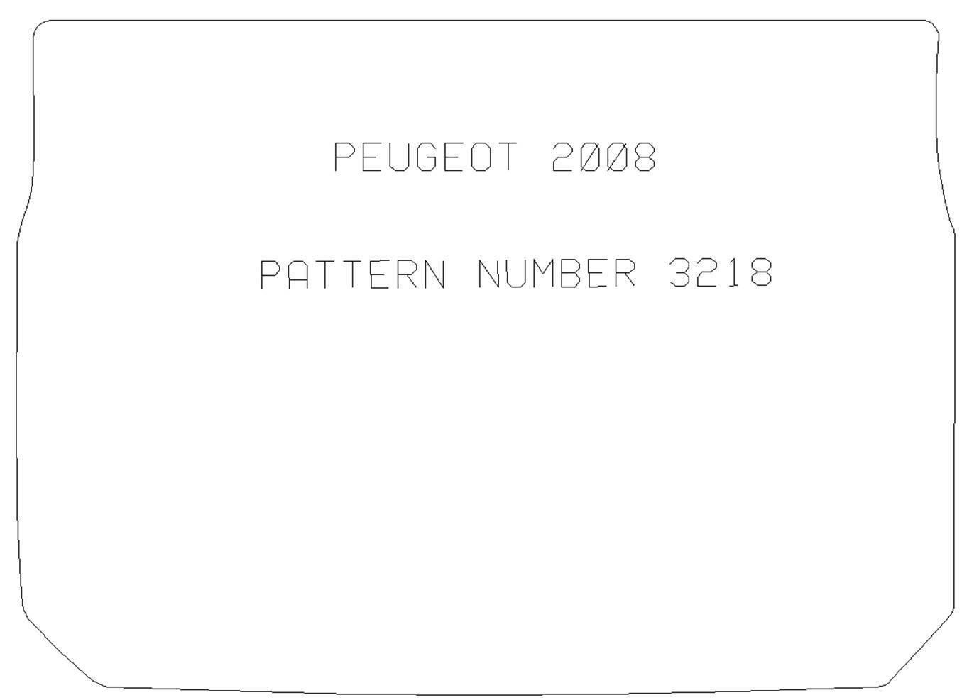 PEUGEOT 2008 TAILORED CARPET BOOT MAT WITH BLACK TRIM 2013 ONWARDS 3218