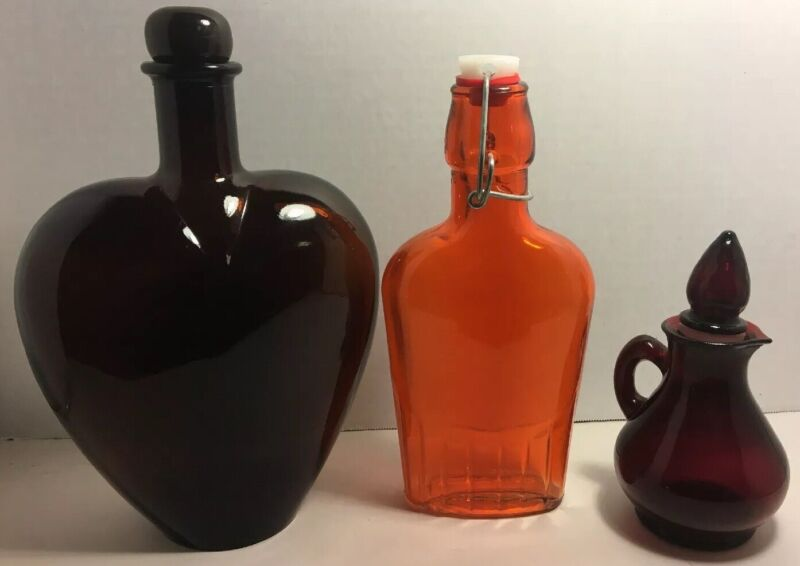 3- Unique Glass Bottles.