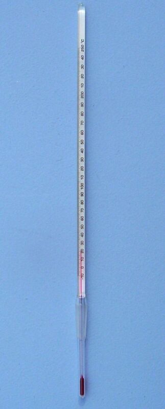 STANDARD TAPER 10/30 SPIRIT THERMOMETER -10 to 250 C