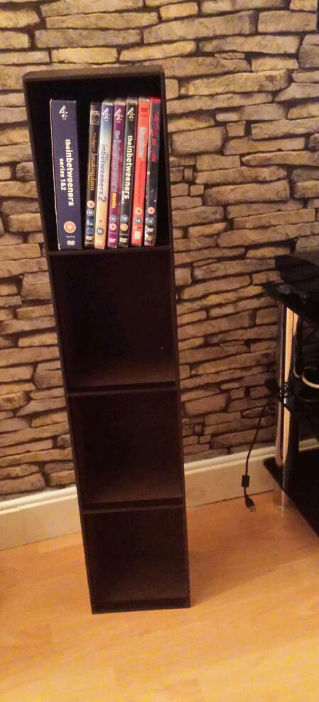 Brown faux leather dvd storage stand & Brown faux leather dvd storage stand   in Hull East Yorkshire   Gumtree