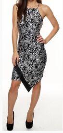 Size 12 - Silver Sequin Asymmetric Party Dress