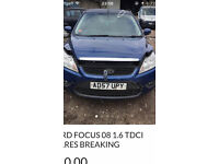 Ford Focus 09 1.6 tdci blue spares breaking