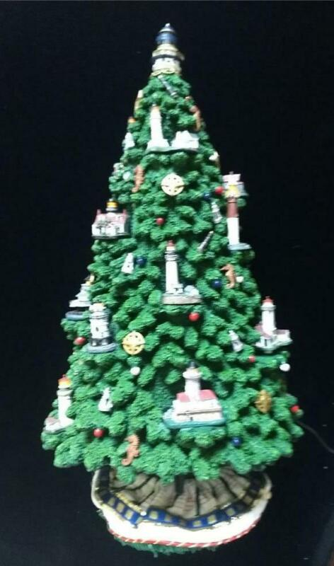 "DANBURY MINT FIRST MATE LIGHTHOUSE CHRISTMAS TREE 1999 CERAMIC 18"" TALL"
