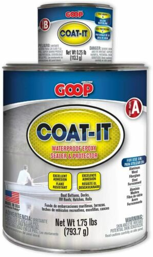 2 lbs Coat-It Waterproof Epoxy Sealer & Protector Kit Excellent Adhesion Boat