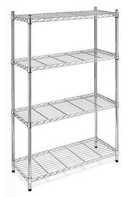 4tier 48x36x14 Shelf Adjustable Steel Metal Wire Shelving Rack Commercial Shelf