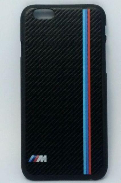 BMW M Sport Carbon Fibre Style Rigid Plastic Hard Back Case for Apple iPhone