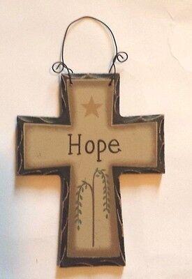 Cross Sign ( CROSS HOPE WOODEN SIGN WALL DECOR PLAQUE HOME DECOR)