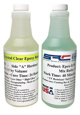 Clear Epoxy Resin For Wood Bar Table Top Encapsulating Casting 32 Ounces