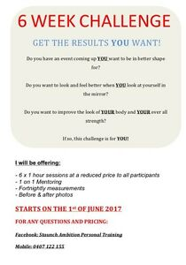 6 Week Personal Training Challenge Mandurah Mandurah Area Preview