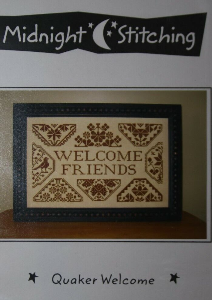 """WELCOME FRIENDS"" cross stitch Pattern by Midnight Stitching"