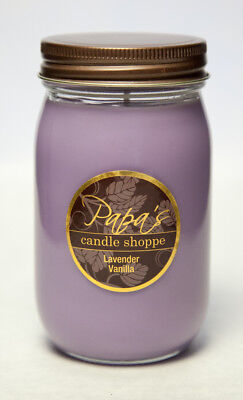 Soy Candles Highly Scented Papa's Candle Shoppe, Lavender Va