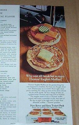 1970 Print Ad   Thomas English Muffins   Dulany Fruitland Delmarva Peninsula Ad