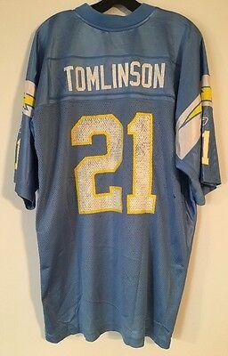 554df035f Reebok San Diego Chargers Tomlinson Jersey Baby Blue XL