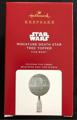 NEW 2020 Hallmark Mini MINIATURE DEATH STAR Wars Christmas TREE TOPPER ornament