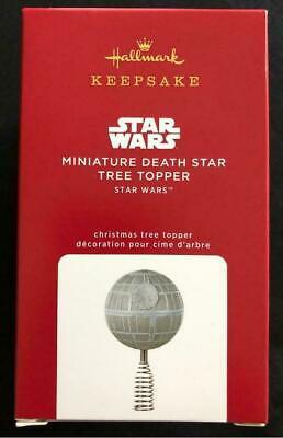 2020 Hallmark Mini MINIATURE DEATH STAR Wars Christmas TREE TOPPER ornament NEW