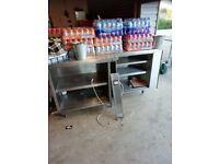 Stainless steel worktops