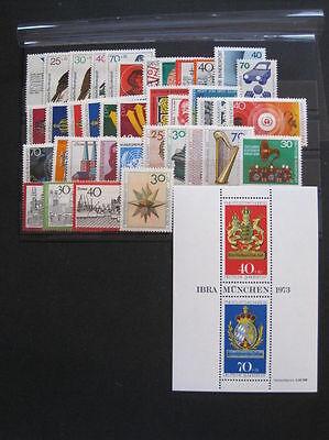 Bund,BRD MiNr. 753-790 Jahrgang 1973 komplett postfrisch (U 455)