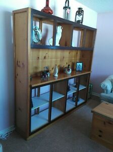 soild pine wall unit