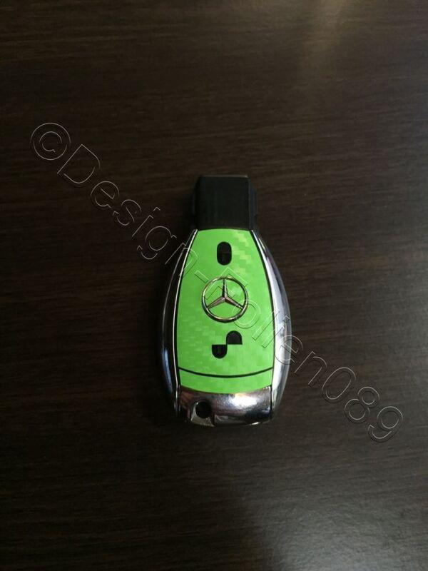 Schwarz Brush Folie Dekor Schlüssel Mercedes A B C D E G S Klasse AMG 2 Tasten