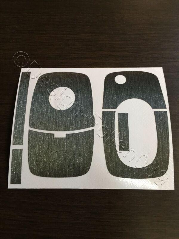 Carbon Anthrazit Dekor Folie Schlüssel Skoda Bora Roomster RS  Superb Fabia