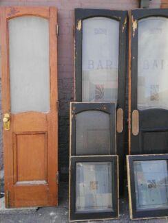 Antique pub doors and windows