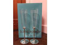 Kate Spade Mr & Mrs Champagne Flutes
