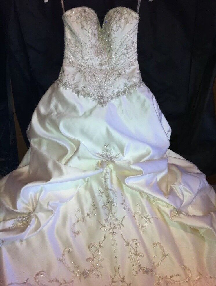 Maggie Sottero Monalisa Royale Wedding Dress Gown size UK 10 (8-12)