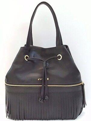 Innue Satchel Large Italian Leather Plus Nero Handbag (Black)