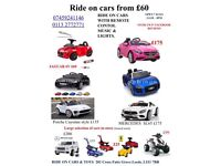 Largest selection of kids ride on cars with remote control music & lights