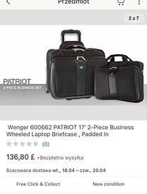 Wenger Patriot 2-piece Business Wheeled Laptop Briefcase rollercase 17'