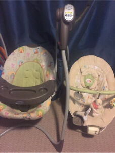 Whinnie the poo swing and bouncy chair set  Edmonton Edmonton Area image 1