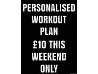 Personalised training plan