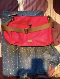 Radley pink changing bag