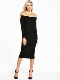 Black Bardot V by Very Dress