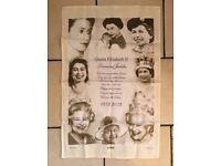 Queen Elizabeth II Diamond Jubilee tea towel